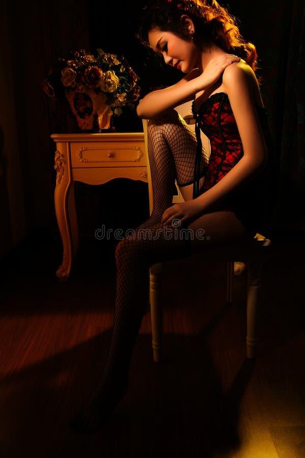 Reginetta sexy orientale immagini stock libere da diritti