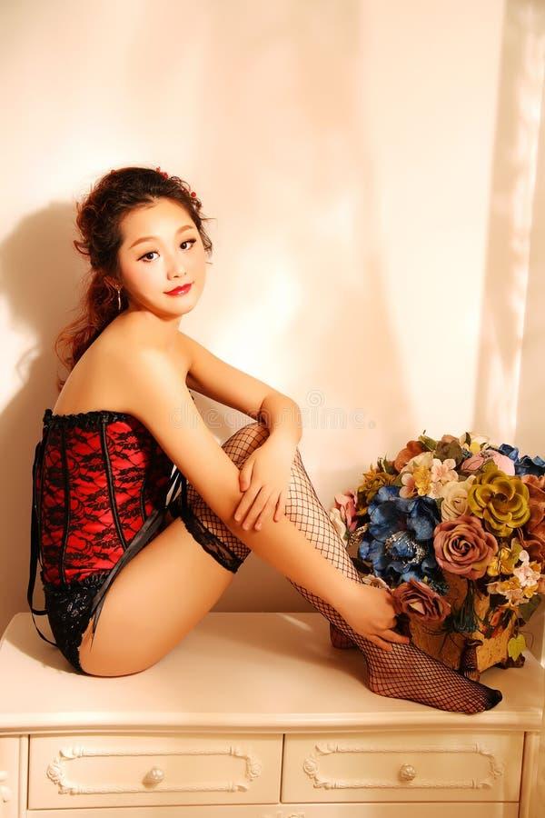 Reginetta sexy orientale fotografia stock