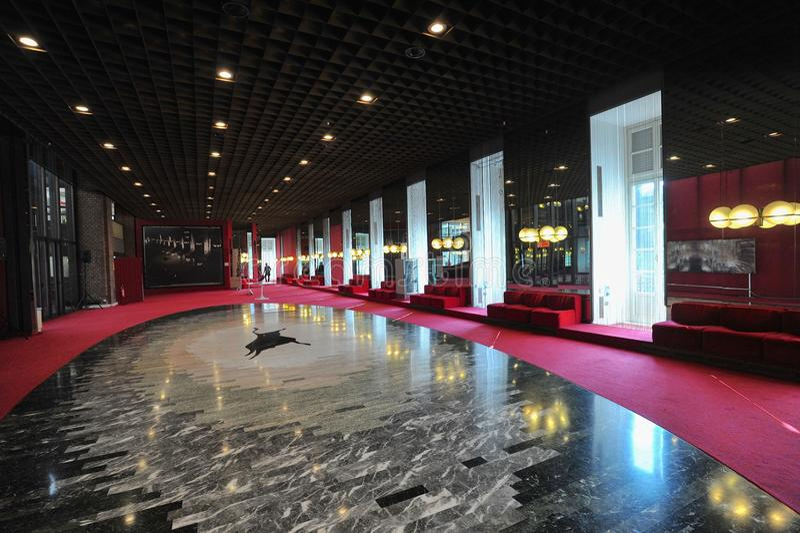 Regio theatre Turyn stażysty widok foyer i galeria obraz royalty free