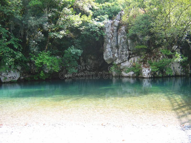 Region Griechenland Voidomatis-Fluss Zagorochoria Epirus stockfotos