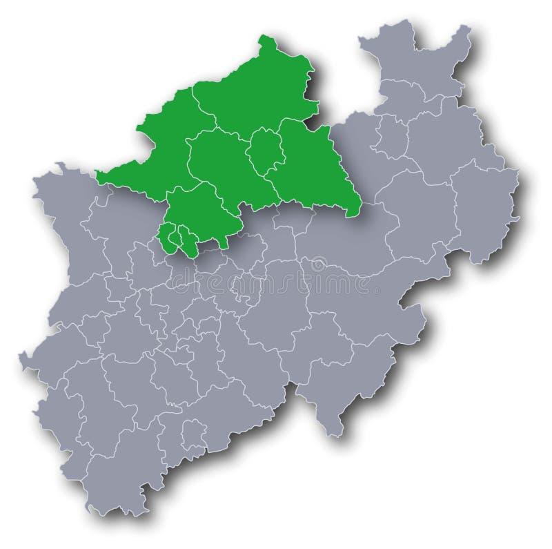 Region i okręg MÃ ¼ nster royalty ilustracja