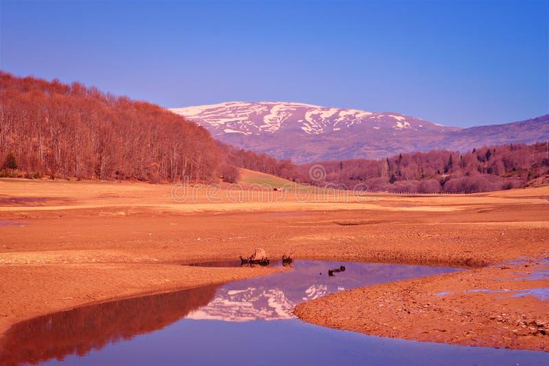 region mavrovo krajobrazu obraz stock