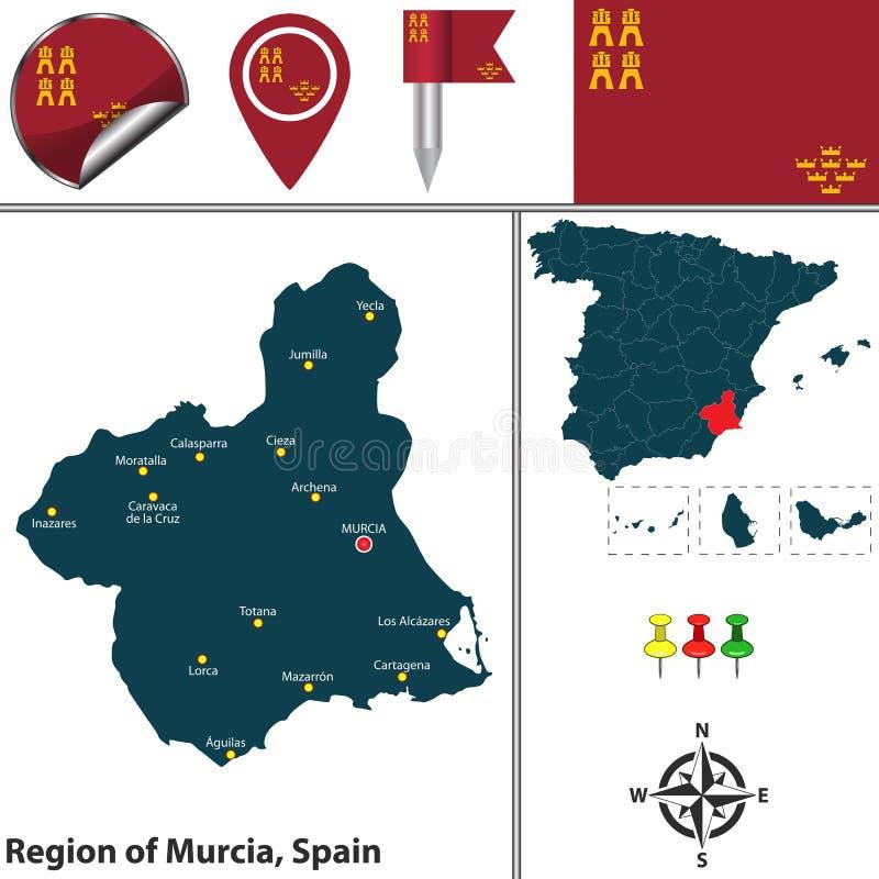 Region Murcia, Hiszpania ilustracji