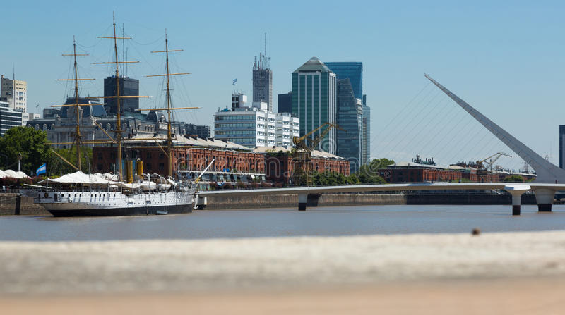Region Puerto Madero in Buenos Aires royalty free stock image