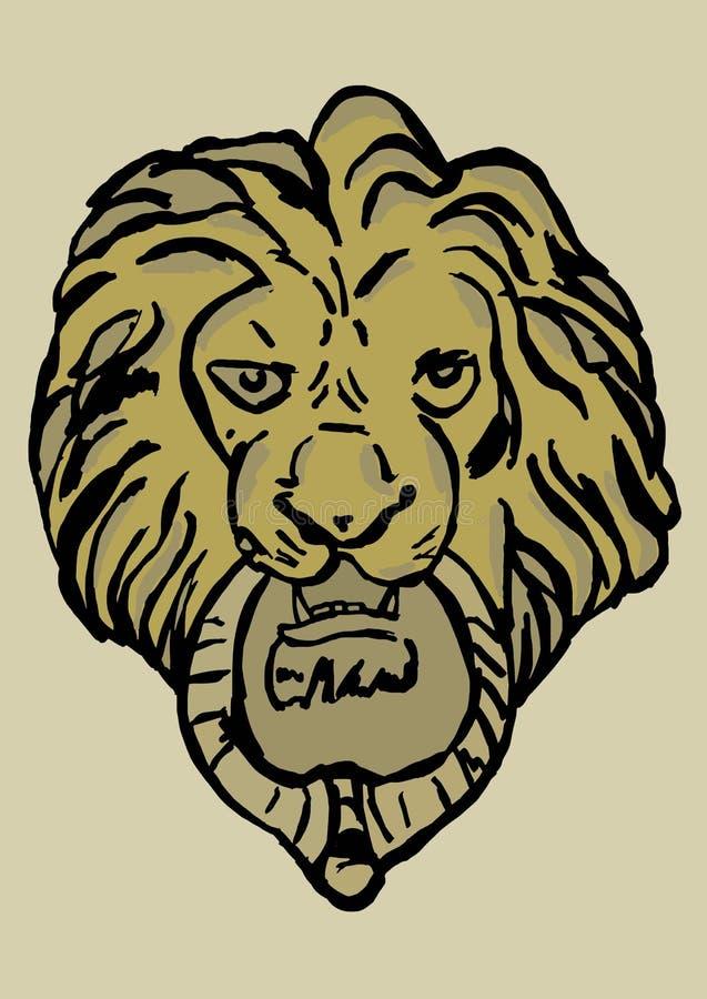 region spain för lion för andalusia antequera dörrknackare stock illustrationer
