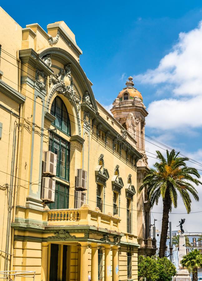 Regionaal theater van Oran in Algerije stock foto's