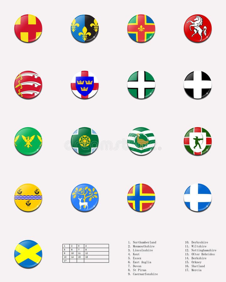 Download Regional And Cities' Flags Ball Of UK 1/2 Stock Photography - Image: 25644542