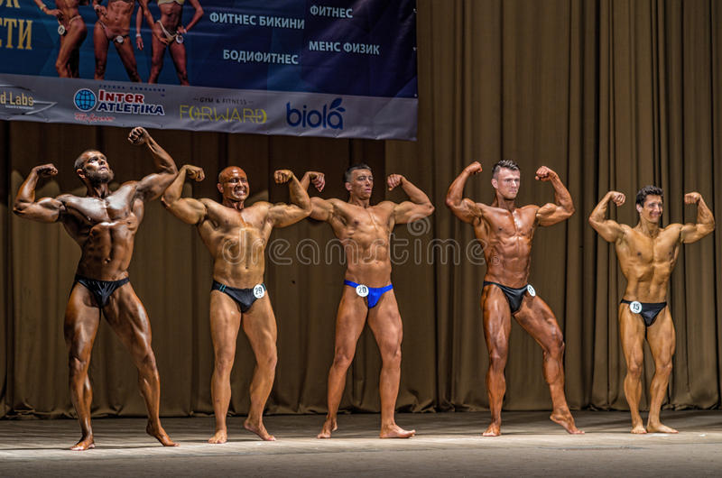 Regional classic bodybuilding championship. In Kramatorsk, Ukraine royalty free stock images