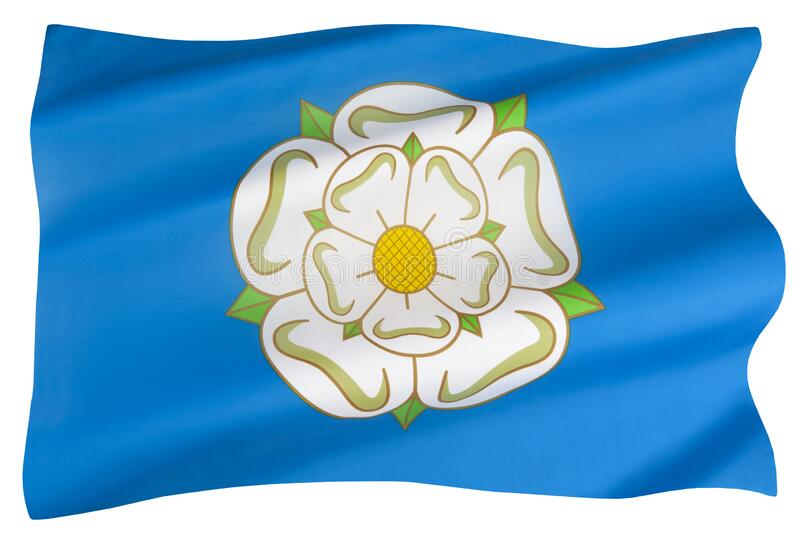 The flag of Yorkshire - England royalty free stock image