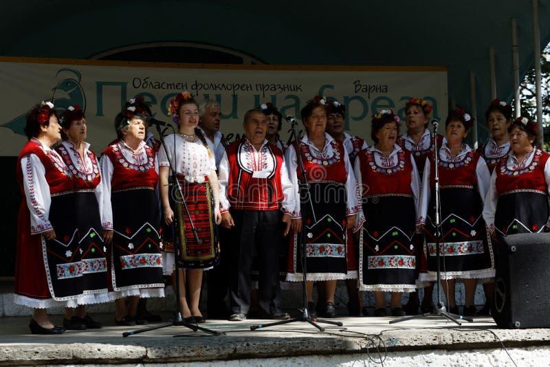 Regional folklorefest i Varna, Bulgarien arkivbilder
