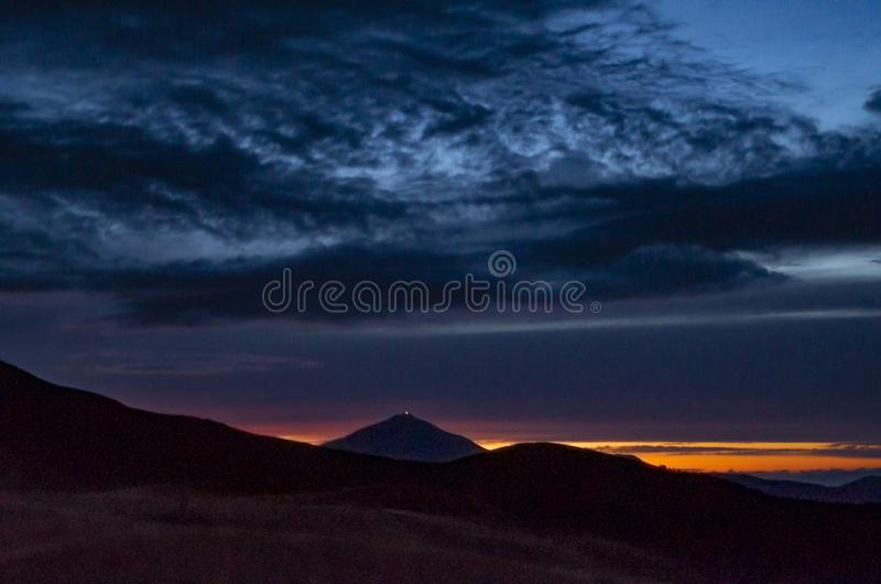 Sunset over the Apennines in summer. Regional Park of Corno alle Scale, Tuscan Emilian Apennines, Italy royalty free stock photos