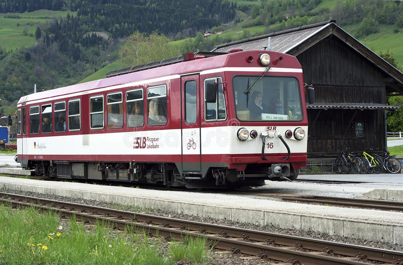 Regional train stock image