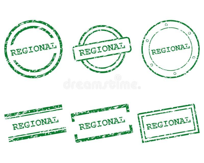 Regionale zegels royalty-vrije illustratie