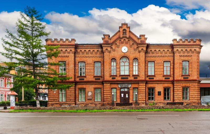 Regionales Museum Minusinsk der lokalen Überlieferung lizenzfreies stockbild