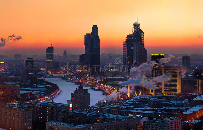 regione di affari della Mosca-città fotografia stock libera da diritti