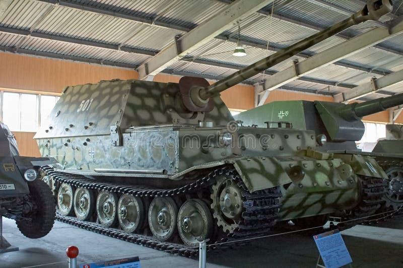 REGIONE DI MOSCA, RUSSIA - 30 LUGLIO 2006: Ferdinand, distruttore di carro armato immagine stock