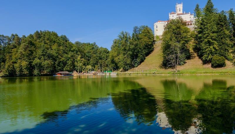 Regione di Trakoscan Zagorje del castello, Croazia fotografie stock