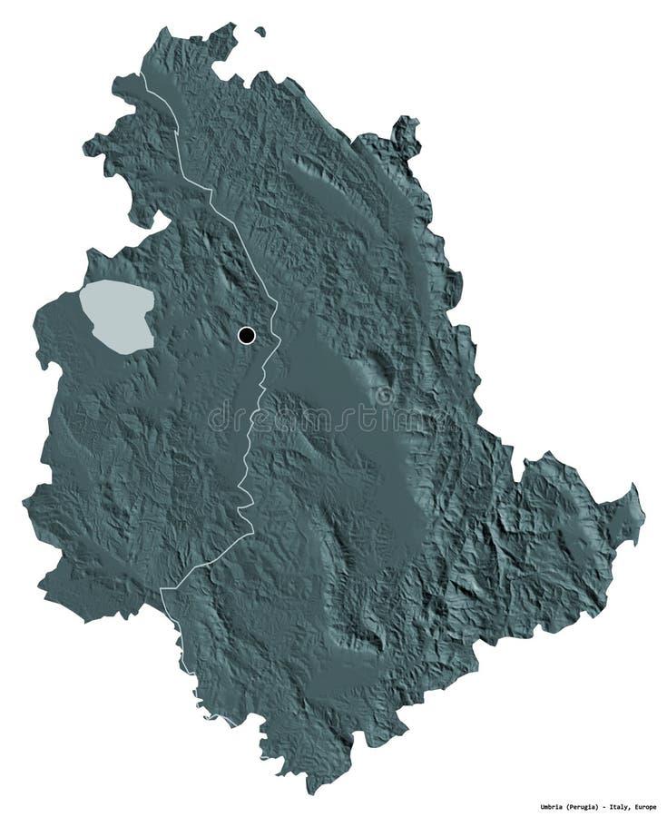 Umbria Cartina Geografica Fisica.Cartina Geografica Dell Umbria Illustrazione Di Stock Illustrazione Di Illustrazione Icona 182140578