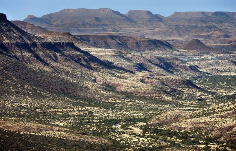 Regione selvaggia di Damaraland - Namibia fotografia stock