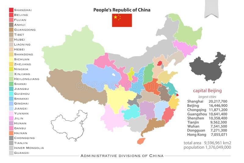 Regiones de China stock de ilustración