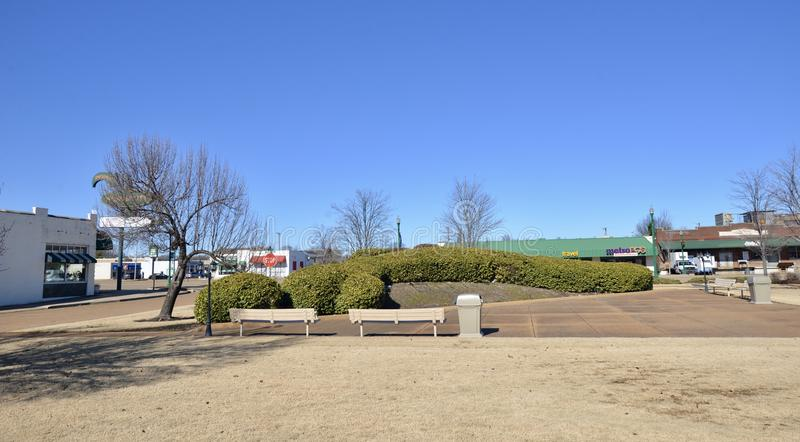 Regionu banka placu tyły, Zachodni Memphis, Arkansas obraz stock