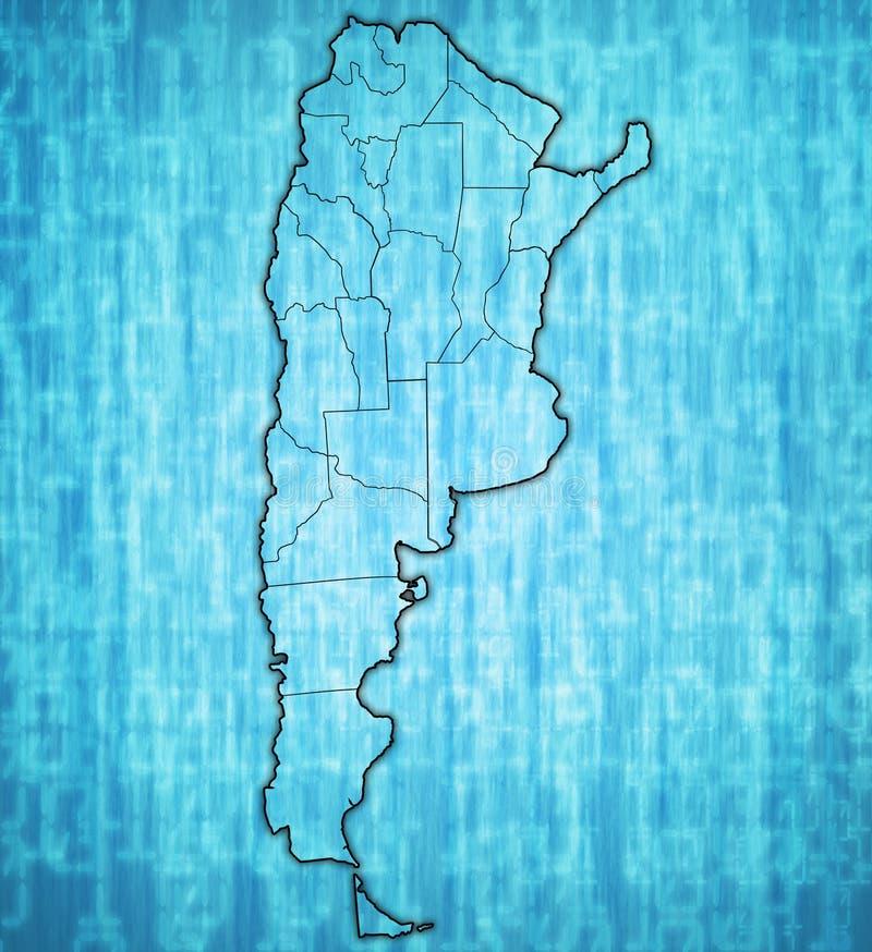 Regiony Argentina na mapie ilustracji