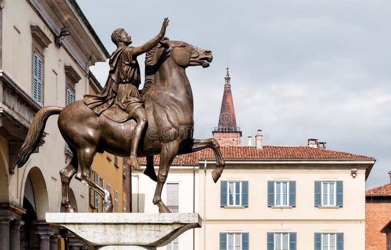 Regisole zabytek Pavia, Włochy fotografia royalty free