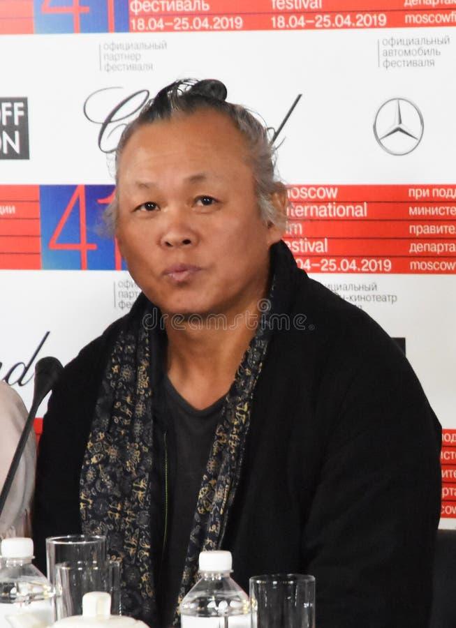 Regisseur Kim Ki-Duk in Moskou stock afbeelding