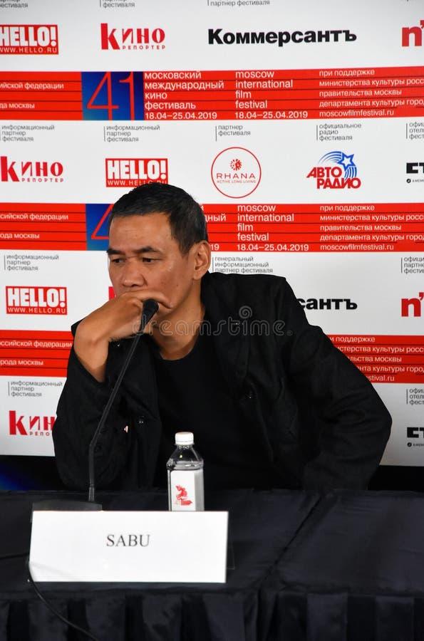 Regisseur SABU van Internationaal de Filmfestival van Japan eenenveertigste Moskou stock afbeeldingen