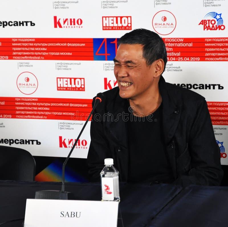 Regisseur SABU van Internationaal de Filmfestival van Japan eenenveertigste Moskou stock fotografie