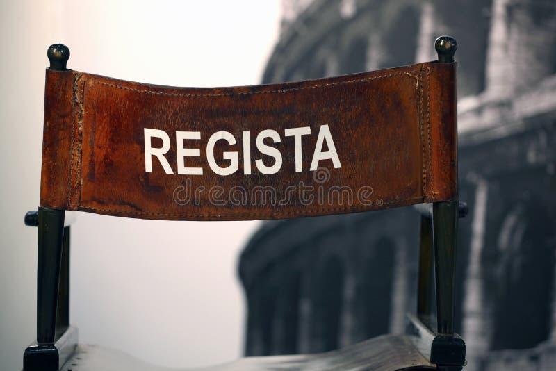 Regista - Italian cinema director.  royalty free stock photos