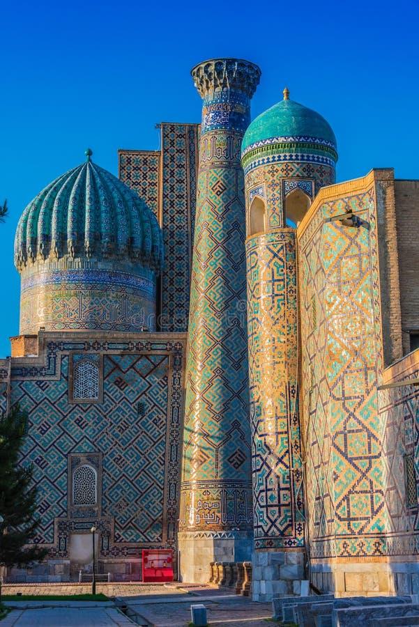 Registan, старая публичная арена в Самарканде, Узбекистане стоковое фото rf