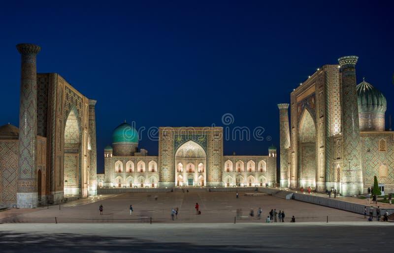 Registan kwadrat przy Samarkand, Uzbekistan fotografia stock