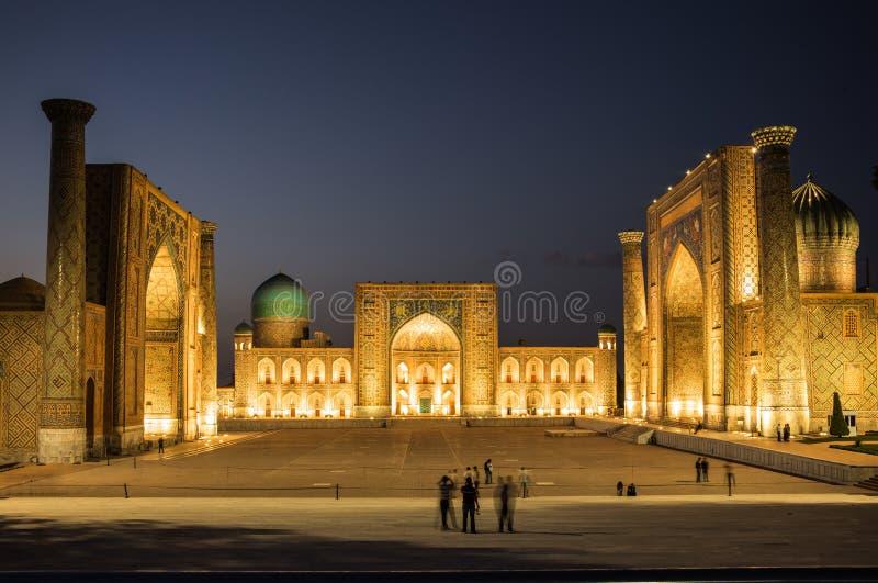 Registan kwadrat przy Samarkand, Uzbekistan obrazy royalty free