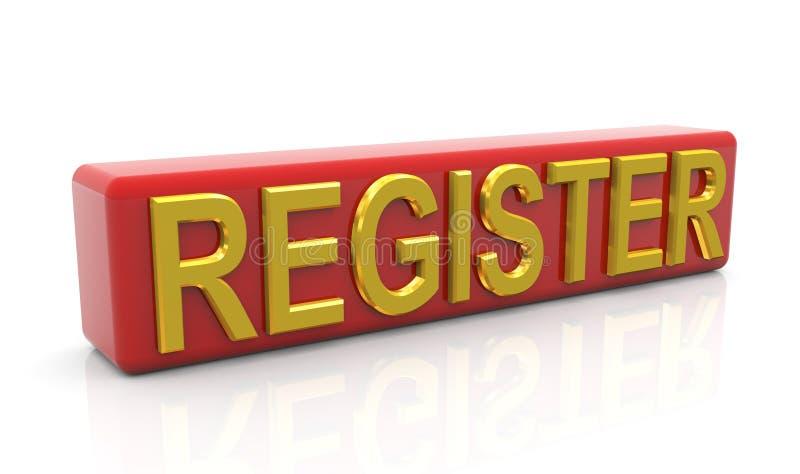 Register lizenzfreie abbildung