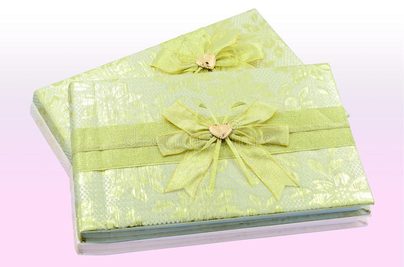 Register book of wedding. On the pink table royalty free stock photos