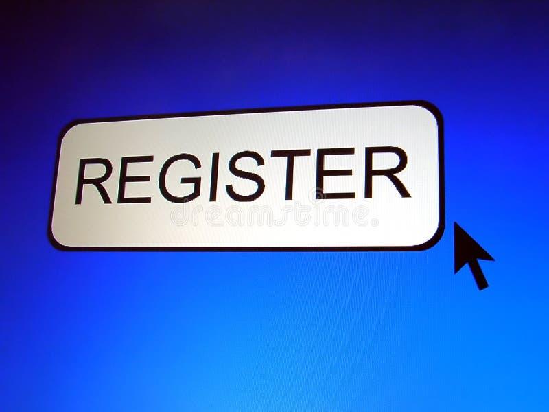 Register Button stock illustration