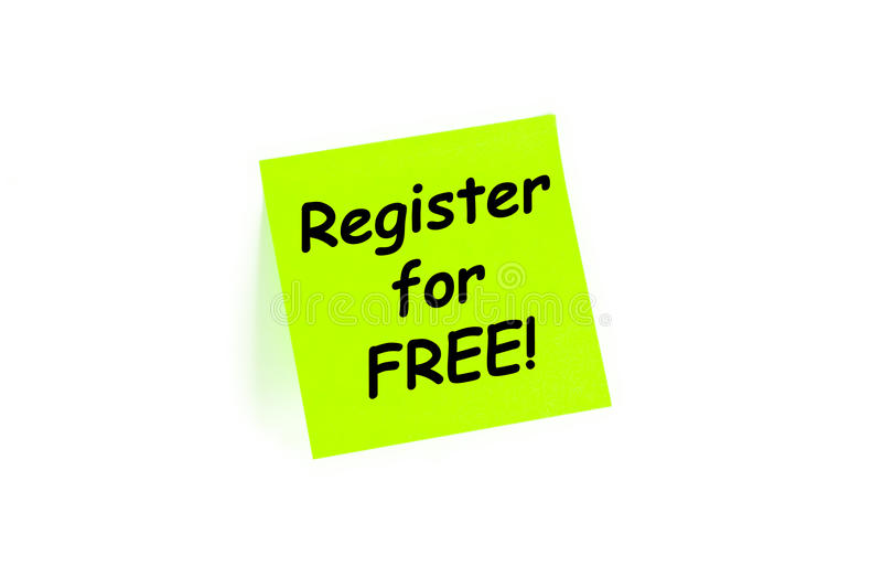 Register For Free Sign Up Concept royalty free stock image