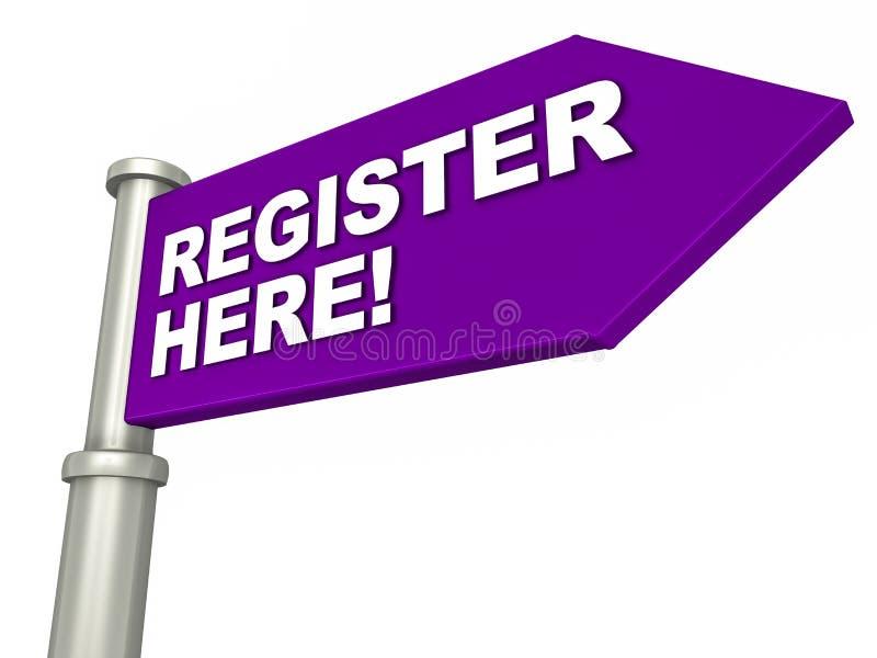 Register here vector illustration