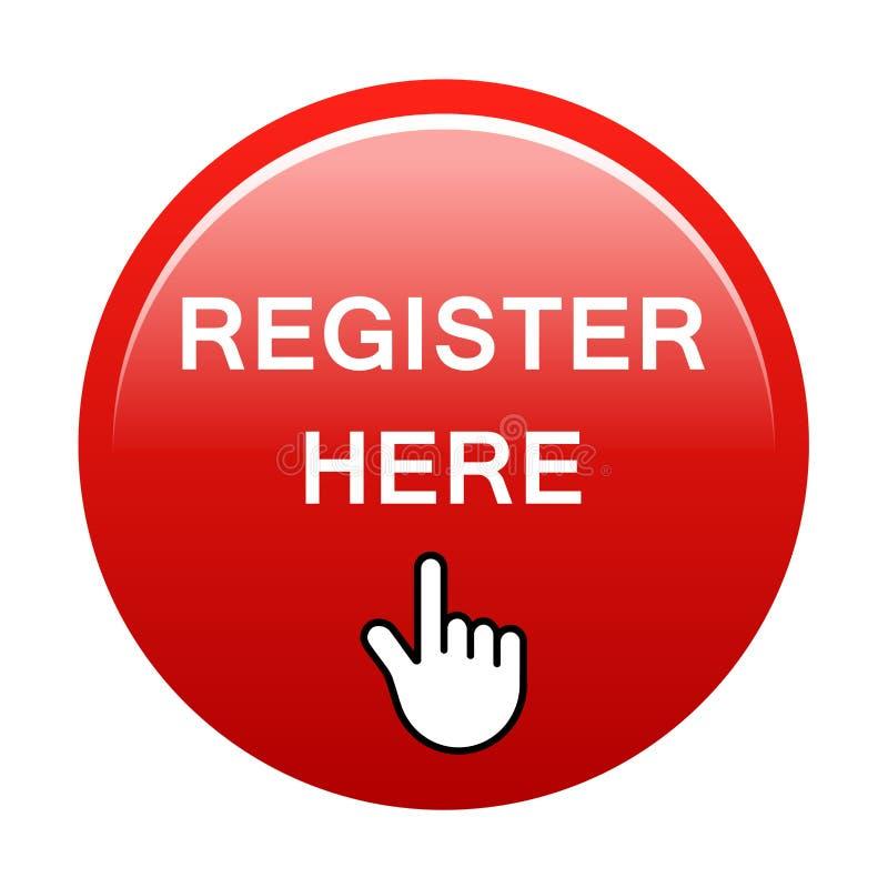 Register here button stock vector. Illustration of communication - 128696807
