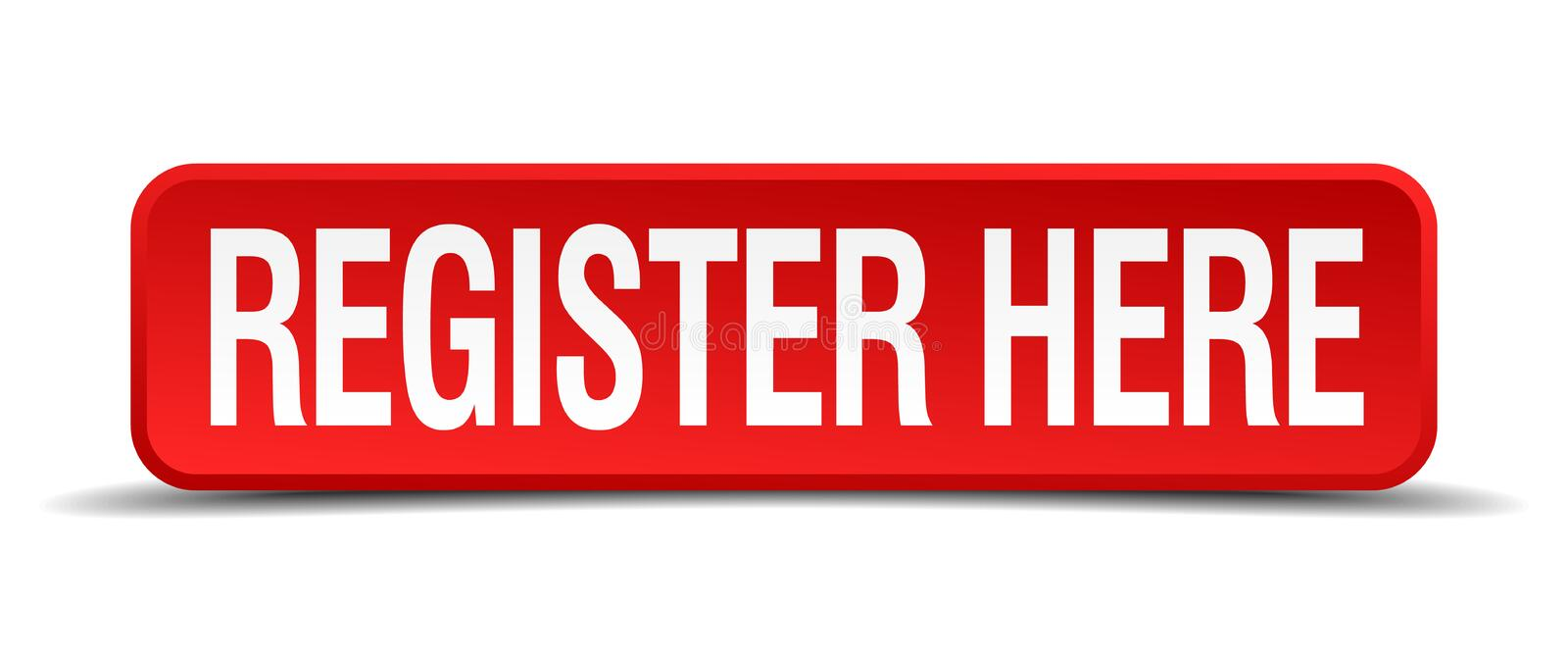 Register here red 3d square button royalty free illustration