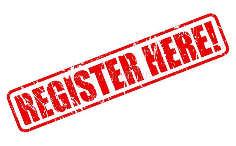 Register here red stamp text. On white royalty free illustration