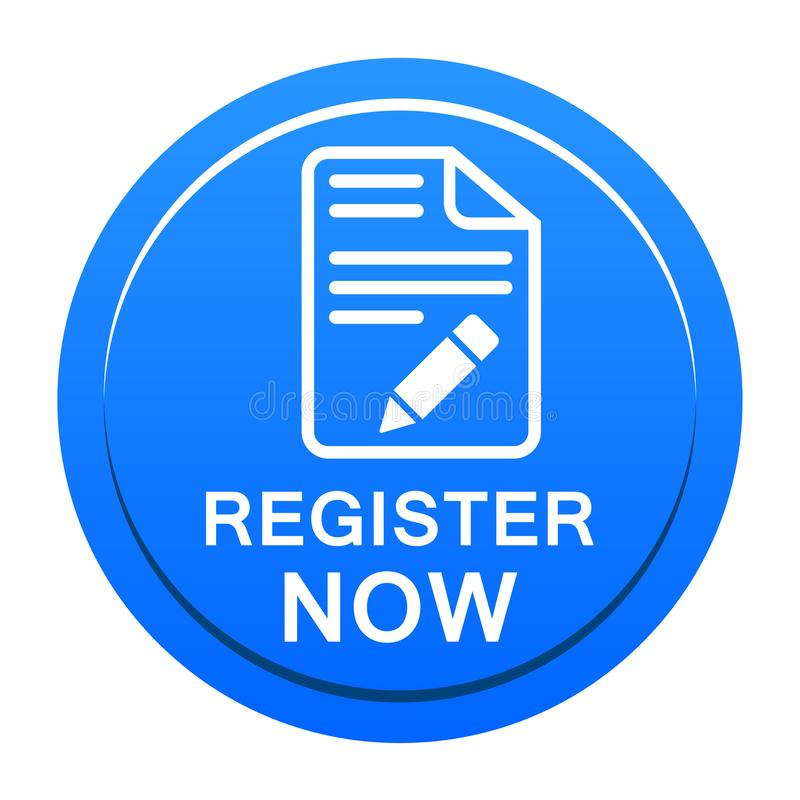 Register now button vector illustration