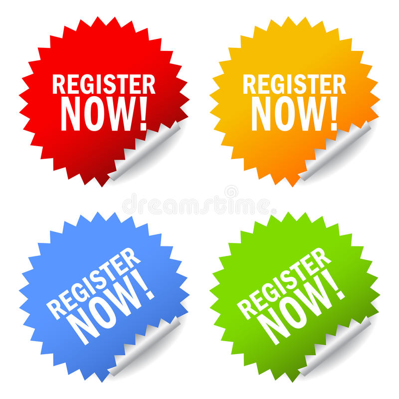 Register now icon royalty free illustration