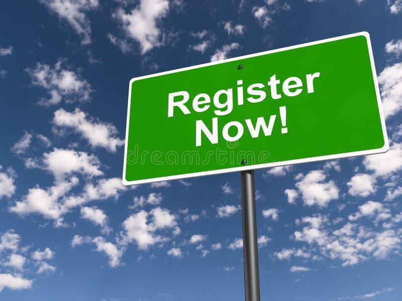 Register nu! royaltyfri foto