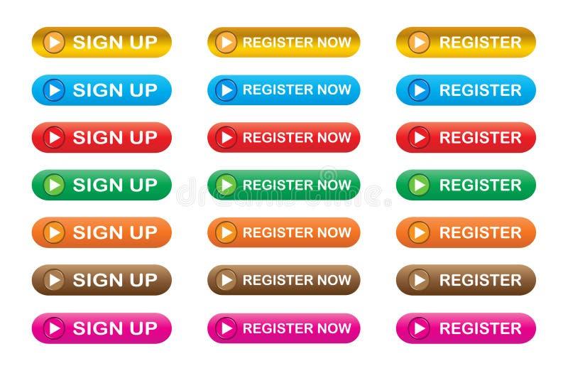 Register nu royalty-vrije illustratie