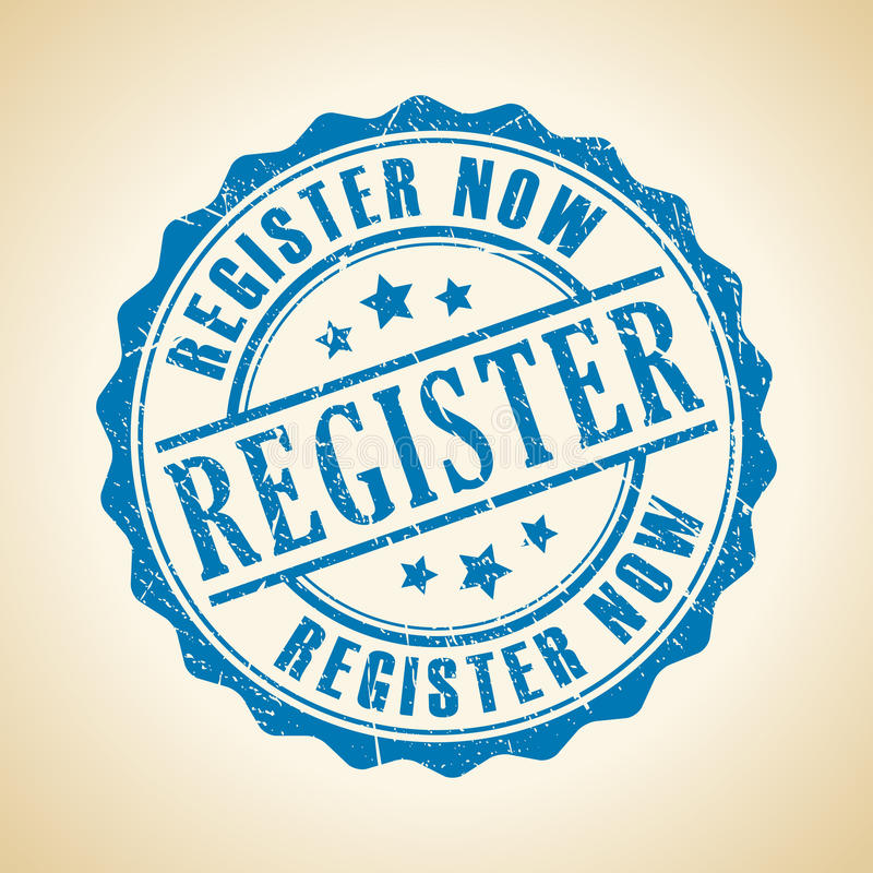 Register nu stock illustratie