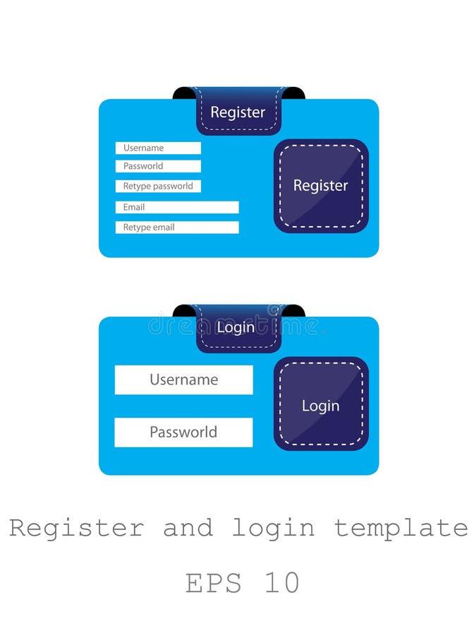 Register- und LOGON-Schablone, ENV 10 stock abbildung