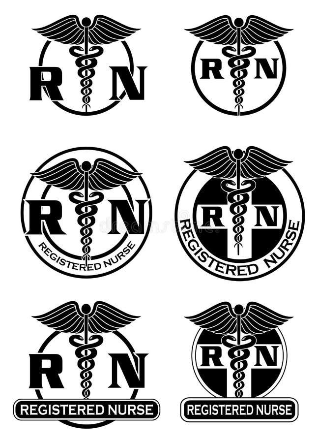 Registered Nurse Designs Graphic Style stock illustration