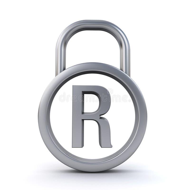 Registered trademark padlock stock illustration